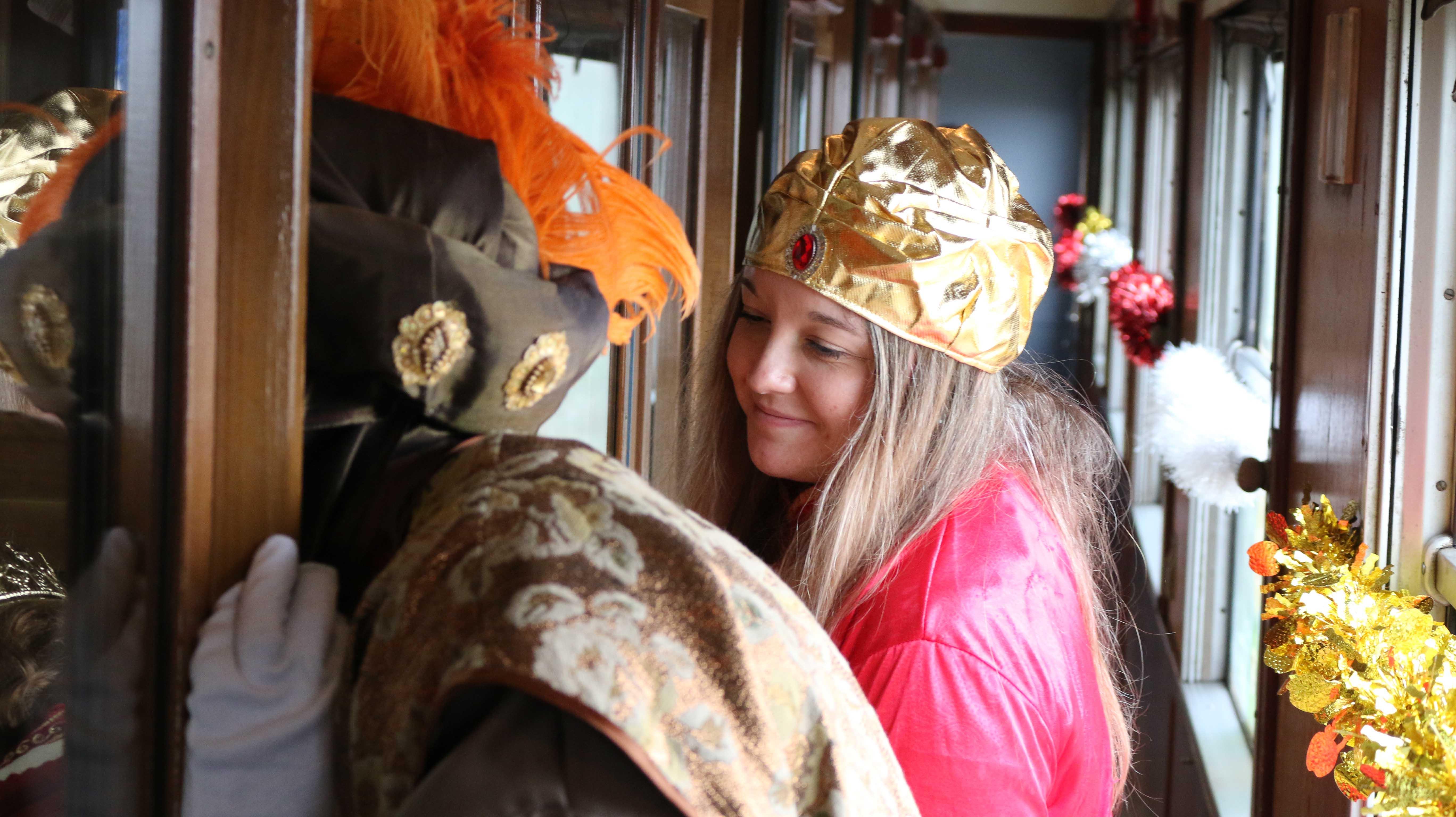 Foto con los Reyes en el Tren